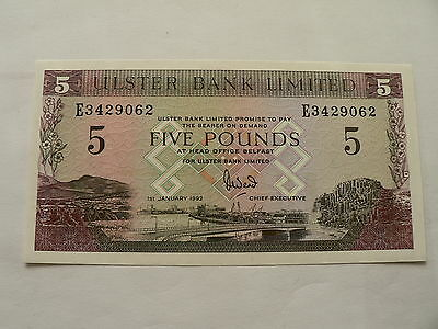 Banknote Irland Ulster Bank 5 Pounds 1992
