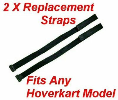 2X Replacement Straps For Any Hoverkart With Buckle and Hook & Loop Fastener