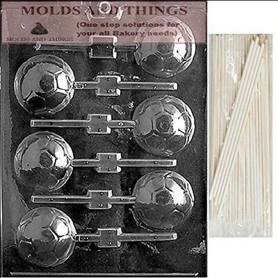 SOCCER BALL LOLLY Chocolate Candy Mould With © Moulding Instruction + 25