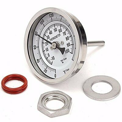 MRbrew Kettle Thermometer,Stainless Steel Thermometer with Lock Nut for Brewing
