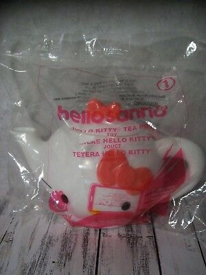 B5  Hello Sanrio, Hello Kitty, McDonald's Happy Meal Toy #1, Teapot, NIP