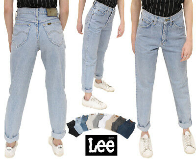 Lee Womens Vintage High Waisted Baggy Mom Jeans