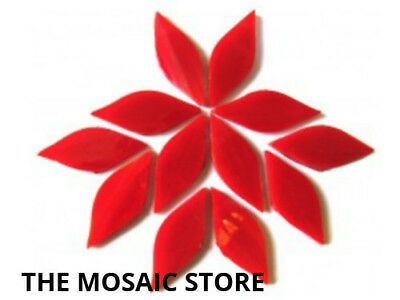 Small Red Stained Glass Petals - Mosaic Tiles Supplies Art Craft