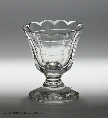 Early Victorian hand-cut jelly glass or small sweetmeat