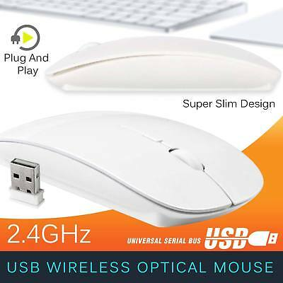 Slim 2.4 GHz USB Optical Wireless Cordless Scroll Mouse for Mac PC Laptop iMac