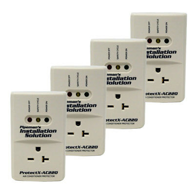 4 Pack AC 220v Surge Brownout Voltage Protector 3600 Watts Freezer (New Model)