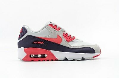 NIKE AIR MAX 90 LTR (GS)~Orange/Grey/Purple~(833376-005) BIG KIDS WOMEN'S