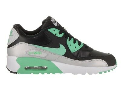 NIKE AIR MAX 90 LTR (GS)~Black/Green Glow~(833376-001) BIG KIDS WMNS