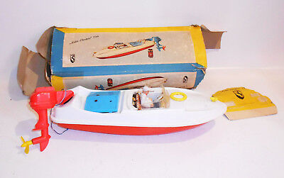 Altes Spielzeug Boot MS Lido Electric 726 OVP um 1960 Western Germany