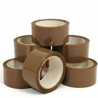 Packing Parcel Box Sealing Tape - Low Noise Clear & Brown - 48 mm x 66 M Rolls