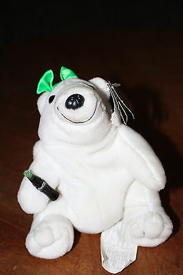 Coca Cola Bean Bag Plush Polar Bear Collectible 1997 Beanie Stuffy