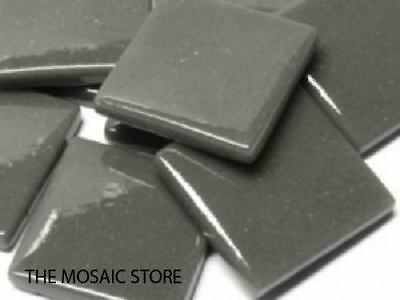 Charcoal Gloss Glass Tiles 2.5cm - Mosaic Tiles Supplies Art Craft