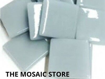 Pearl Grey Gloss Glass Tiles 2.5cm - Mosaic Tiles Supplies Art Craft