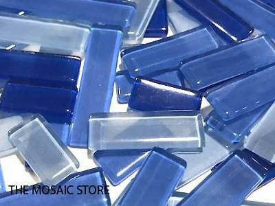 Blue Mixed Glass Rectangles | Mosaic Art Craft Supplies Tiles