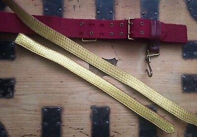 British Army Foot Guards Officers Ceremonial Sword Slings and Sword Belt, Large