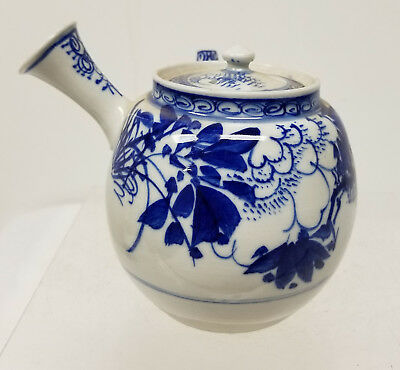 Antique Vintage Japanese Blue and White Teapot 20th Century