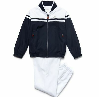 Lacoste Children's Sport Tracksuit In Diamond Weave Taffeta 4/6 Years Rrp:-£100