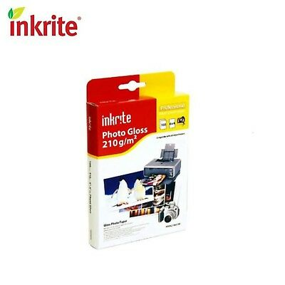 """100 Sheets of Inkrite Glossy Photo Paper 6x4"""" (210gsm)"""