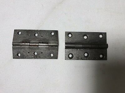 "Pair  of Antique Victorian Genuine Original Baldwin Cast Iron 3"" Butt Hinges."
