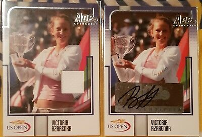 Victoria AZARENKA Ace Authentic Autograph card US I3 Auto /149 + Material /75