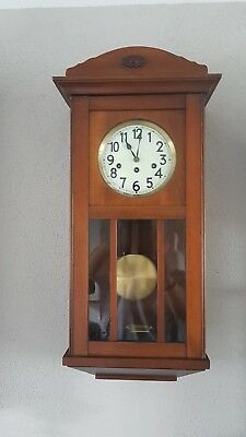 0125 - Antique German Junghans  Westminster chime wall clock Porcelain dial