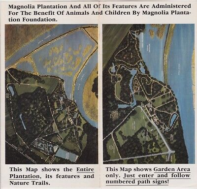 1960's Magnolia Gardens Promotional Map Brochure