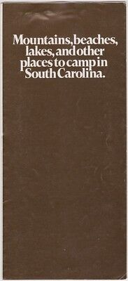 1974 South Carolina Campgrounds Guide Brochure