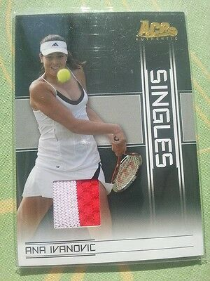 RARE Ana IVANOVIC Ace Authentic SINGLES Memorabilia Card white/red SI-2