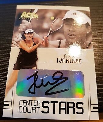 Ana IVANOVIC Ace Authentic Autograph Center Court STARS card CC-11 Auto Tennis