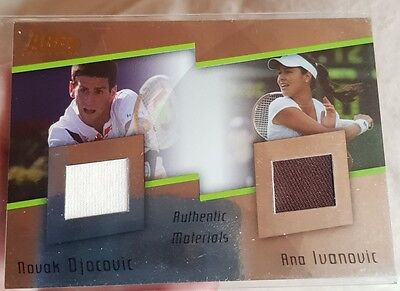 Novak DJOKOVIC Ana IVANOVIC Materials Card Ace Authentic Gran Slam II DJ5 #10/24