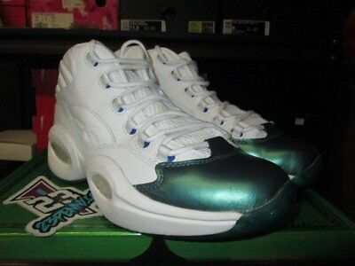 Sale Reebok Question Mid Jet Life Cn3671 Sz 10 New Green Blue White Curren Y 1d47a0f41