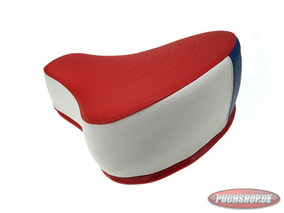 Sattel Puch Maxi Rot-Weiß-Blau Mofa Moped Red White blue sattle seat
