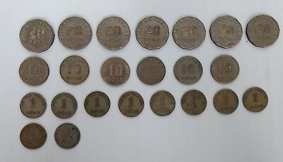 SOUTH VIETNAM 1,10, 20 Dong 1960-1970 - Lot of 23 Different Coins