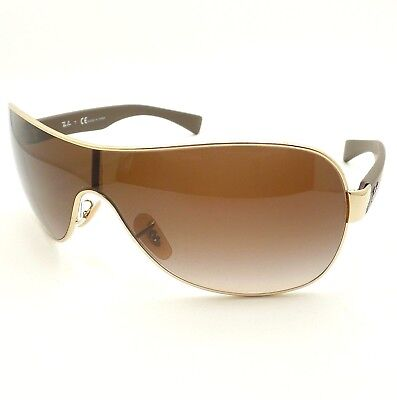 a33687a9c4d NEW RAY BAN Sunglasses Gold Frame RB 3522 001 13 Gradient Brown ...