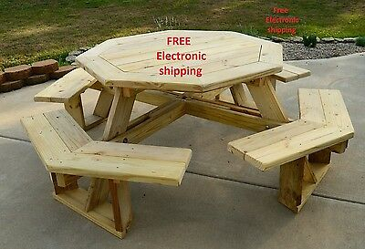 Round Picnic Table Plans PDF file