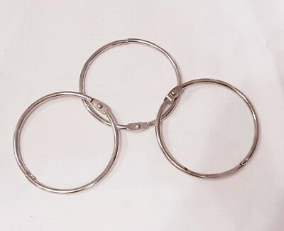 3x 60mm Large JAILER KEY RING KEYRING HOLDER Split Keys Fob Jailers Hinged Rings