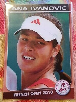 Ana IVANOVIC 2010 French Open card #03/05 Edition True Fan FA Productions Tennis
