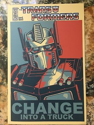 Transformers 1 Variant NM-! 2009 IDW Change Into a Truck! Obama