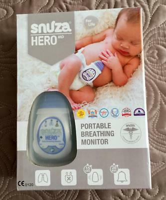 Snuza Hero Md Portable Baby Breathing Monitor (New Open Box) Uk / Eu / Europe