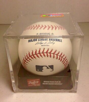 dde3efd45 Rawlings Authentic Collection Official Game Ball MLB Baseball in Display  Case