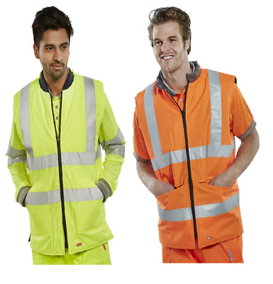 BEESWIFT BWENG Hi-Vis Reversible Interactive Bodywarmer + Reflective Tapes