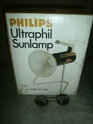 PHILIPS ULTRAPHIL SUNLAMP ~ VINTAGE RETRO 1970's