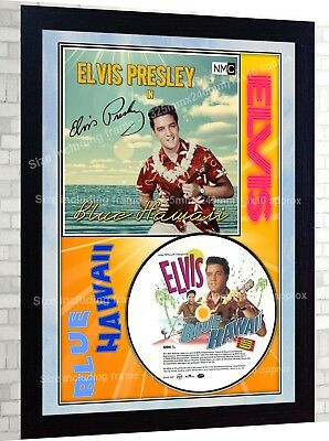 Elvis Presley Blue Hawaii PRESLEY SIGNED FRAMED PHOTO CD Disc Perfect gift