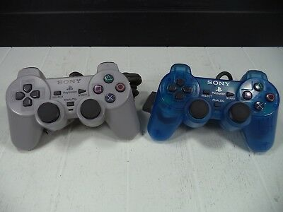 (2) Sony Playstion 1 PS1 SCPH-1200 Dual Shock Video Game Controller LOT Genuine