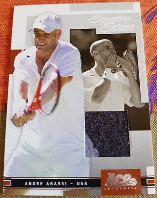Andre AGASSI Ace Authentic Signature Series Jersey Card #427/500 Tennis