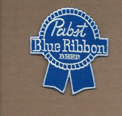 New 2 3/4 X 3 1/8 Inch Pabst Blue Ribbon Beer Iron On Patch Free Shipping