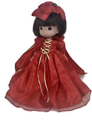 "Bnwt 12""Precious Moments Snow White'S Christmas Memories Doll Red Dress"