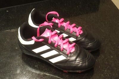 promo code 65159 77a83 Adidas Goletto VI FG Cleats Black Pink BB0571 youth size 1