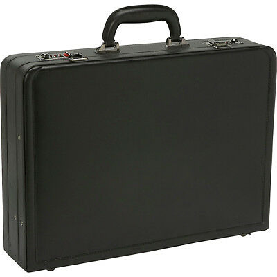 Samsonite Bonded Leather Attache - Black Non-Wheeled Business Case NEW