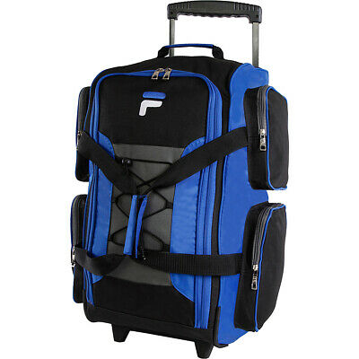 "Fila 22"" Lightweight Carry On Rolling Duffel Bag 4 Colors"